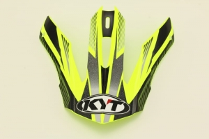 Daszek kasku STRIKE EAGLE STRIPE YELLOW FLUO